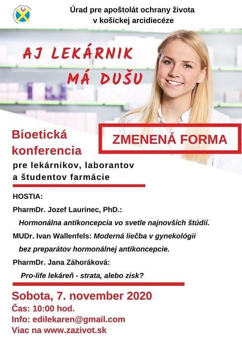 bioetická konferencia pre farmaceutov